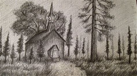 como dibujar  paisaje realista  lapiz como dibujar