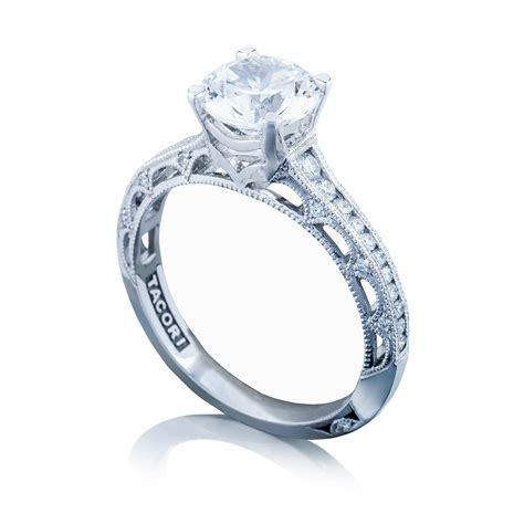 tacori engagement rings crescent solitaire setting 0 26ctw
