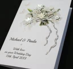 wedding card large a5 handmade personalised beautiful bouquet congratulations wedding card