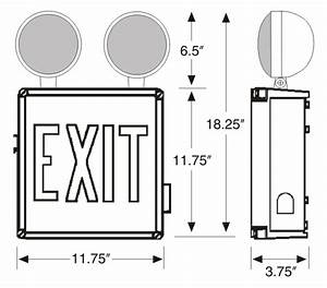 Ul 924 Wet Location Combo Led Exit Sign   Sku