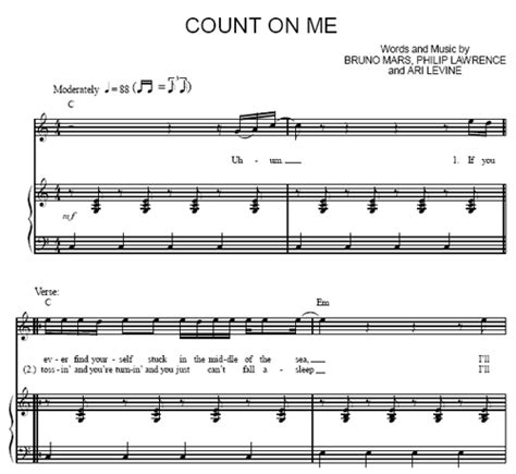 count on me bruno mars sheet music purple market area