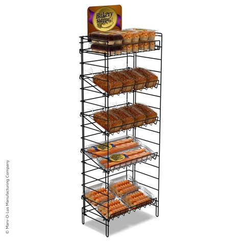 Display Racks by 4 Shelf Wire Display Rack 24 Inch Wide Marvolus Store