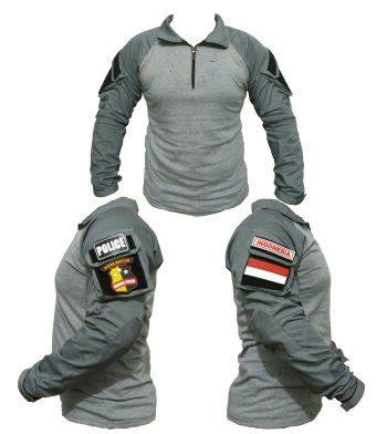 jual combat shirt abu  design kaos tactical velcro