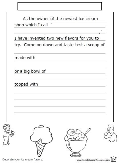 Creative Writing Worksheets For Kindergarten 2018  World Of Printables