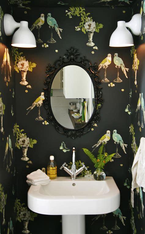 Bathroom Bird Wallpaper