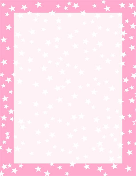 Pink And White Stars Border  Free Borders And Clip Artcom