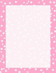 Pink and White Stars Border | Free Borders And Clip Art.com