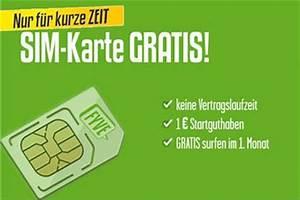 Sim Karte Datenvolumen : fyve kostenlose sim karte mit guthaben bis mitte mai ~ Kayakingforconservation.com Haus und Dekorationen