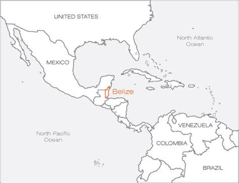 Large Blank Map Belize And Guatemala