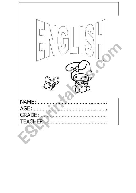 english worksheets english copy book cover
