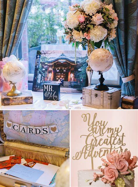 karen josephs travel themed wedding  noor noor