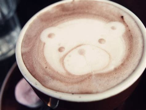 Have the children paint bears with paint that has coffee grounds mixed in it. Coffee art bear | Coffee art, Tableware, Glassware