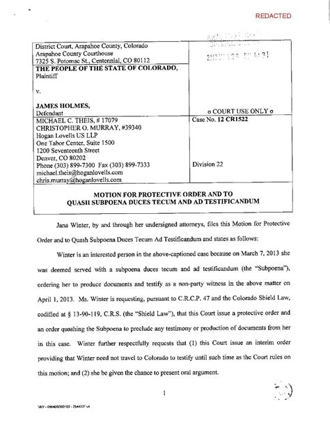 a sle subpeona form for ohio motion for protective order to quash subpoena duces