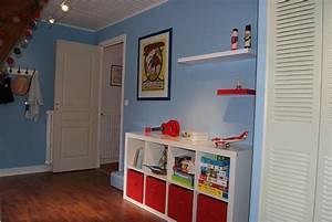 Chambre Ikea Enfant : chambre bleu et rouge ~ Teatrodelosmanantiales.com Idées de Décoration