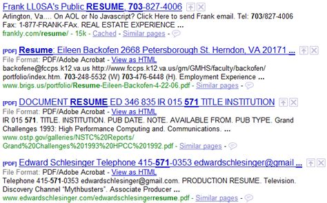how to find resumes on the with boolean