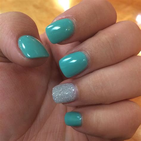 best 25 teal acrylic nails ideas on blue