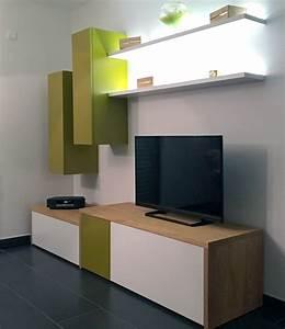 Meuble Tv Original : meuble de salon sur mesure ~ Teatrodelosmanantiales.com Idées de Décoration