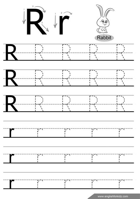 Letter Tracing Worksheets (letters K T