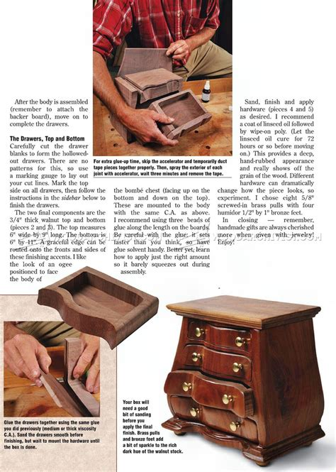 bombe jewelry box plans woodarchivist