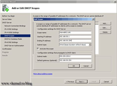 How to install and configure a Windows Server 2008 R2 DHCP ...