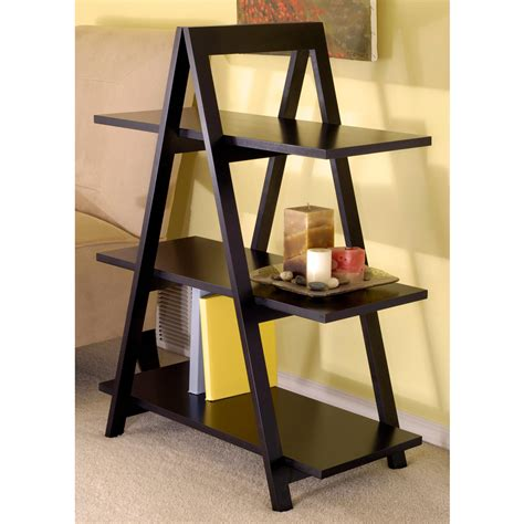 a frame shelf winsome wood 3 tier a frame shelf black
