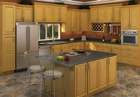 buy carolina oak rta ready  assemble kitchen cabinets