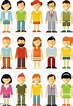 People Characters Set In Flat Style Isolated On White ...