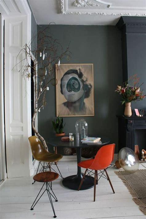 deco salon mur en gris anthracite grand panneau dart