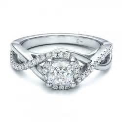 princess cut halo engagement rings custom princess cut halo engagement ring 100790 bellevue seattle joseph jewelry