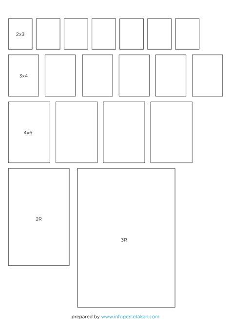Www Infopercetakan Com Ukuran Foto 2x3 3x4 4x6 3r Dan