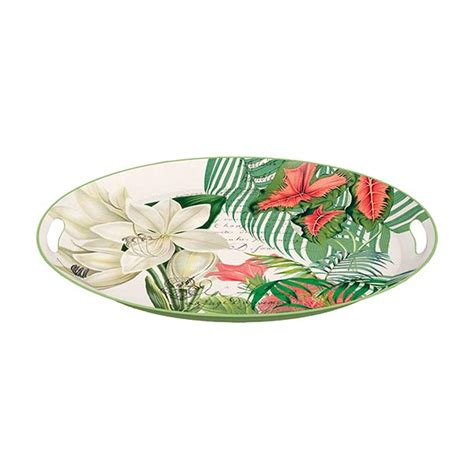 michel design works trays vanilla palm large metal tray by michel design works