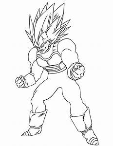 Dragon Ball Z Coloring Pages Vegeta - Coloring Home