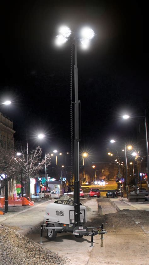 light towers for led light towers are gaining ground on construction jobsites