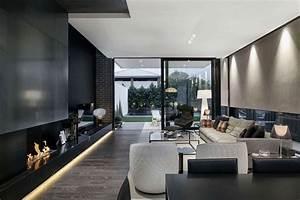 Decoration Led Interieur : la d co noir et blanc cr e des contrastes dans l int rieur ~ Nature-et-papiers.com Idées de Décoration