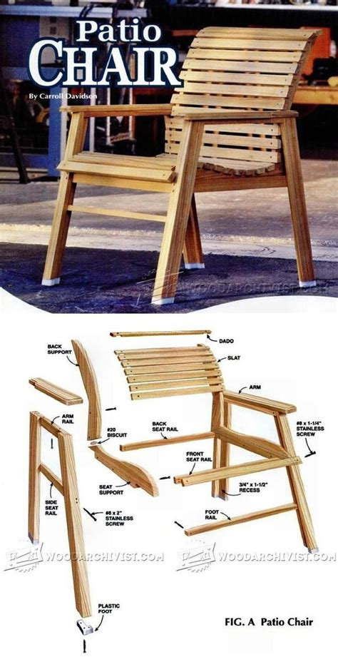 patio chair plans  images woodworking furniture plans