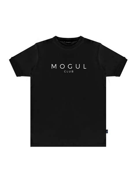 large logo t shirt black mogul club