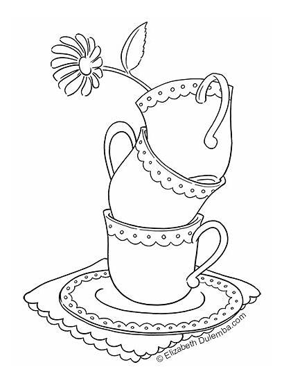 Coloring Tea Teacups Tuesday Dulemba Lovely
