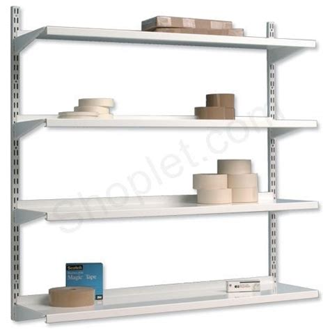 Wall Bracket Shelf System by Trexus Top Shelf Shelving Unit System 4 Shelves Metal
