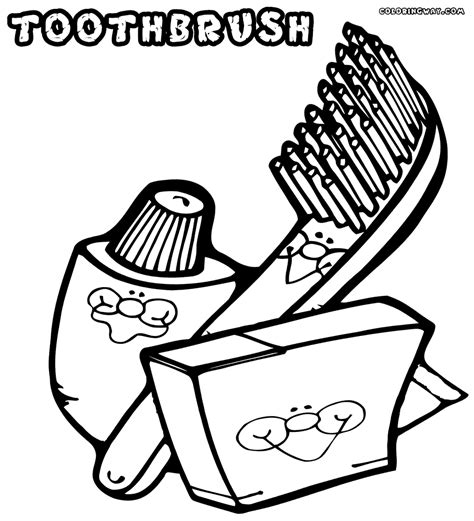 Toothbrush And Toothpaste Coloring Page Toothbrush Coloring Pages Coloring Pages To And