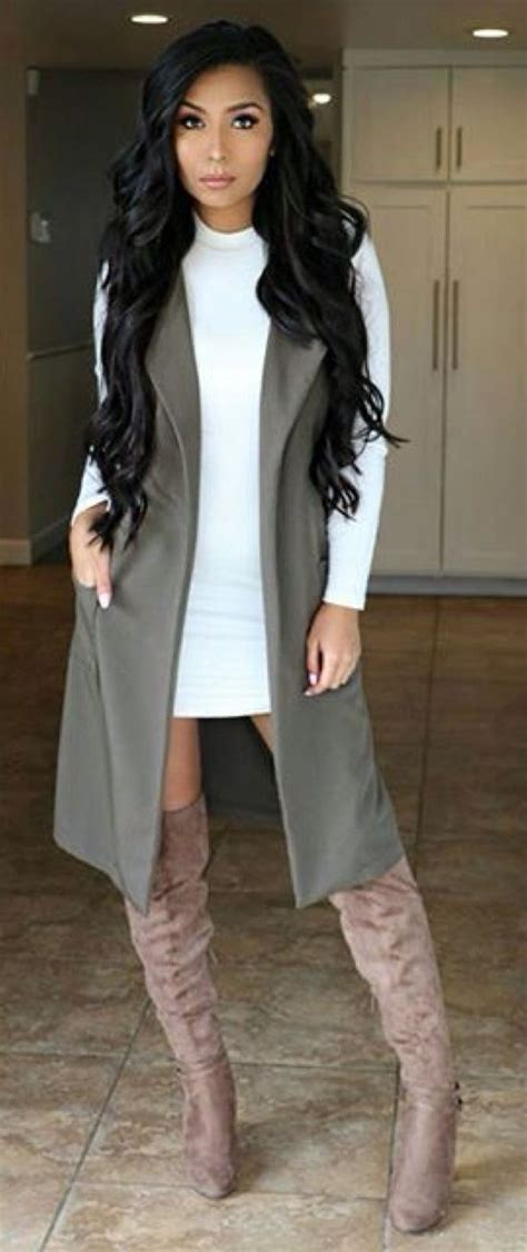 Best 25+ Long vest outfit ideas on Pinterest | Long vests Sleeveless blazer and Black vest
