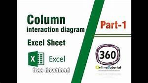Column Interaction Diagram Excel Sheet