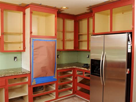 do you paint the inside of kitchen cabinets how to paint kitchen cabinets in a two tone finish how 9952