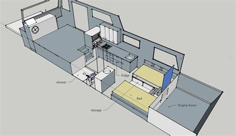 Houseboat Layout by Free House Boat Plans Living On A Houseboat Floating