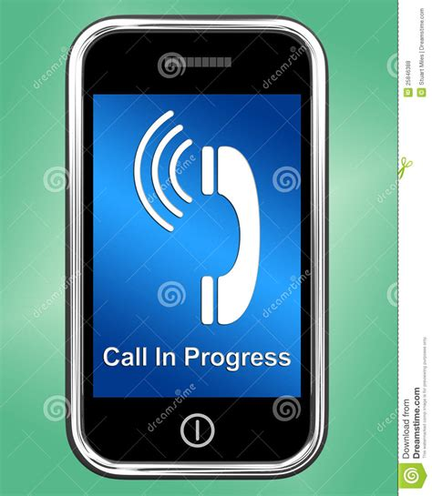 call my cell phone free call in progress message on mobile phone royalty free