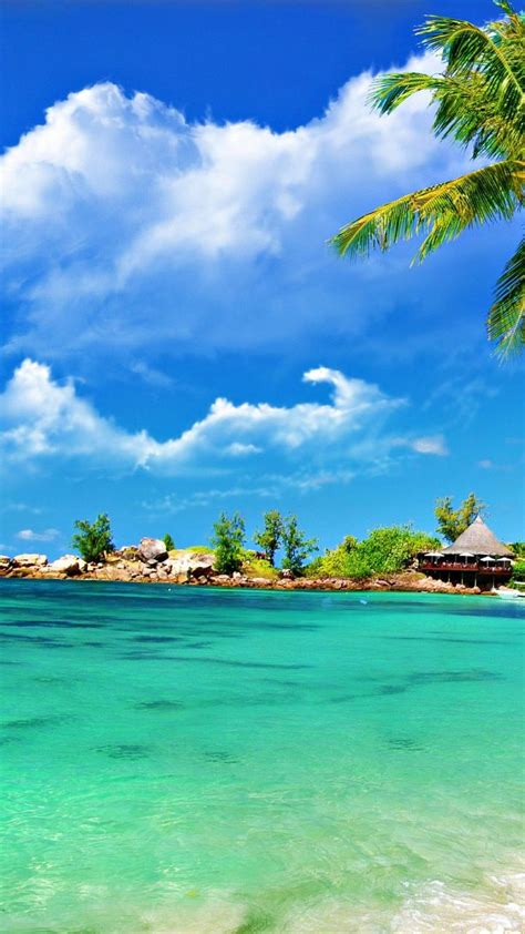 tropical beach scenery wallpaper