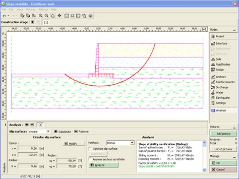 wall design software cantilever wall design and analysis of cantilever