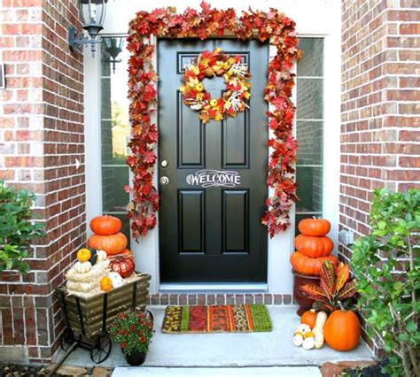 front porch decorations for fall adorning and decorating the front porch for fall