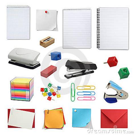 fournitures de bureaux ramassage de fourniture de bureau photo libre de droits