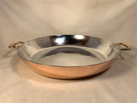 french mauviel   copper tin lined paella pan rocky mountain retinning