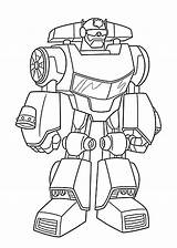 Rescue Coloring Bots Transformers Chase Transformer Printable Bot sketch template
